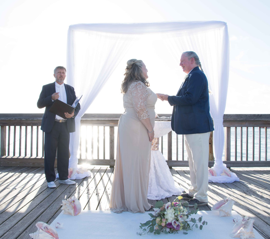 Ocean Key Sunset Wedding